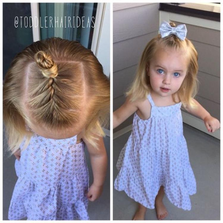 Причёски девочкам на короткие волосы