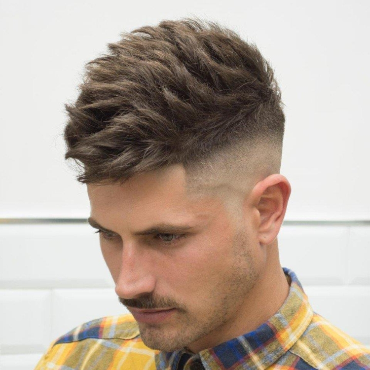 Мужские стрижки с выбритыми висками с названиями и примерами