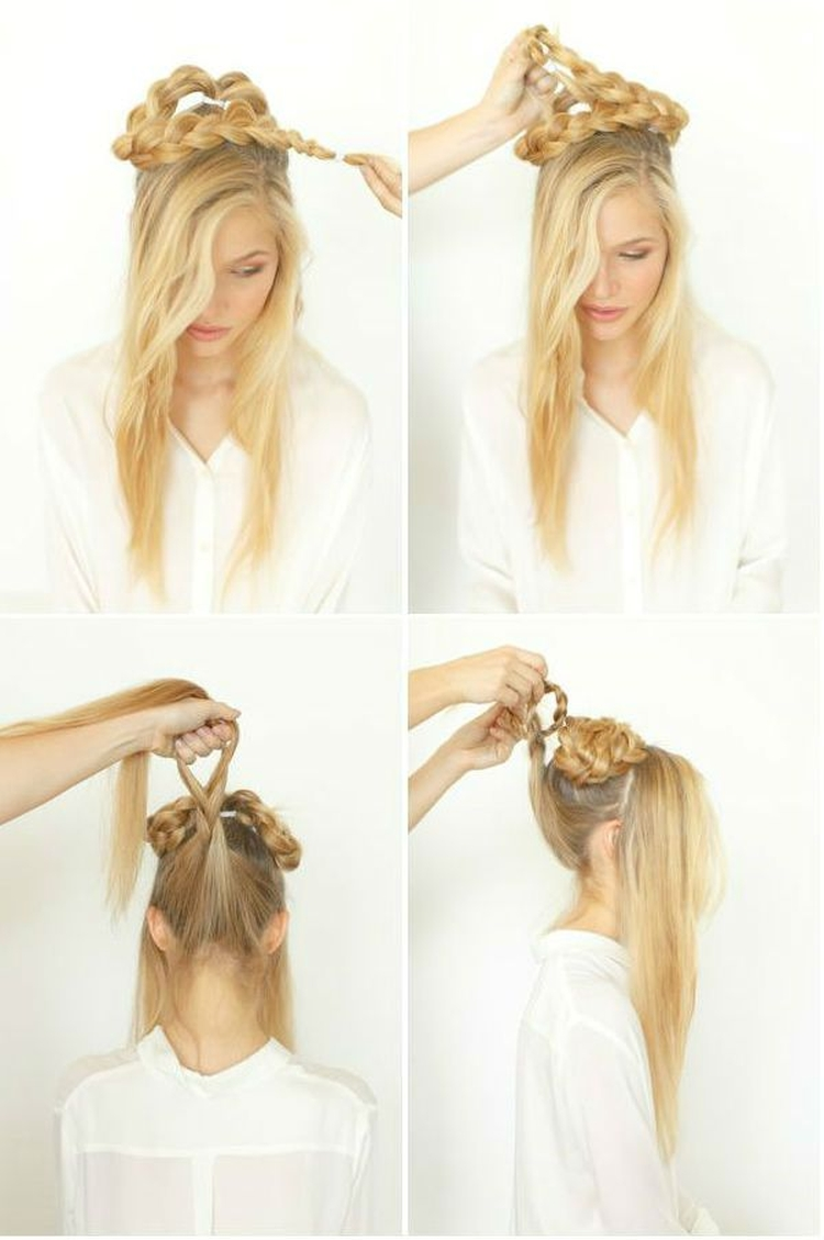 Высокие прически на длинные волосы
