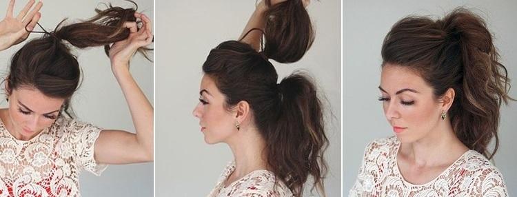 Как сделать хвост с начёсом за 5 минут