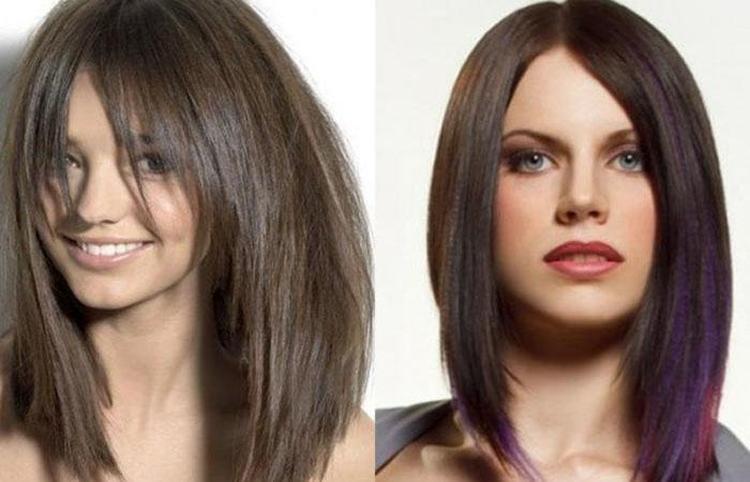 Стрижки ассиметричные на длинные волосы