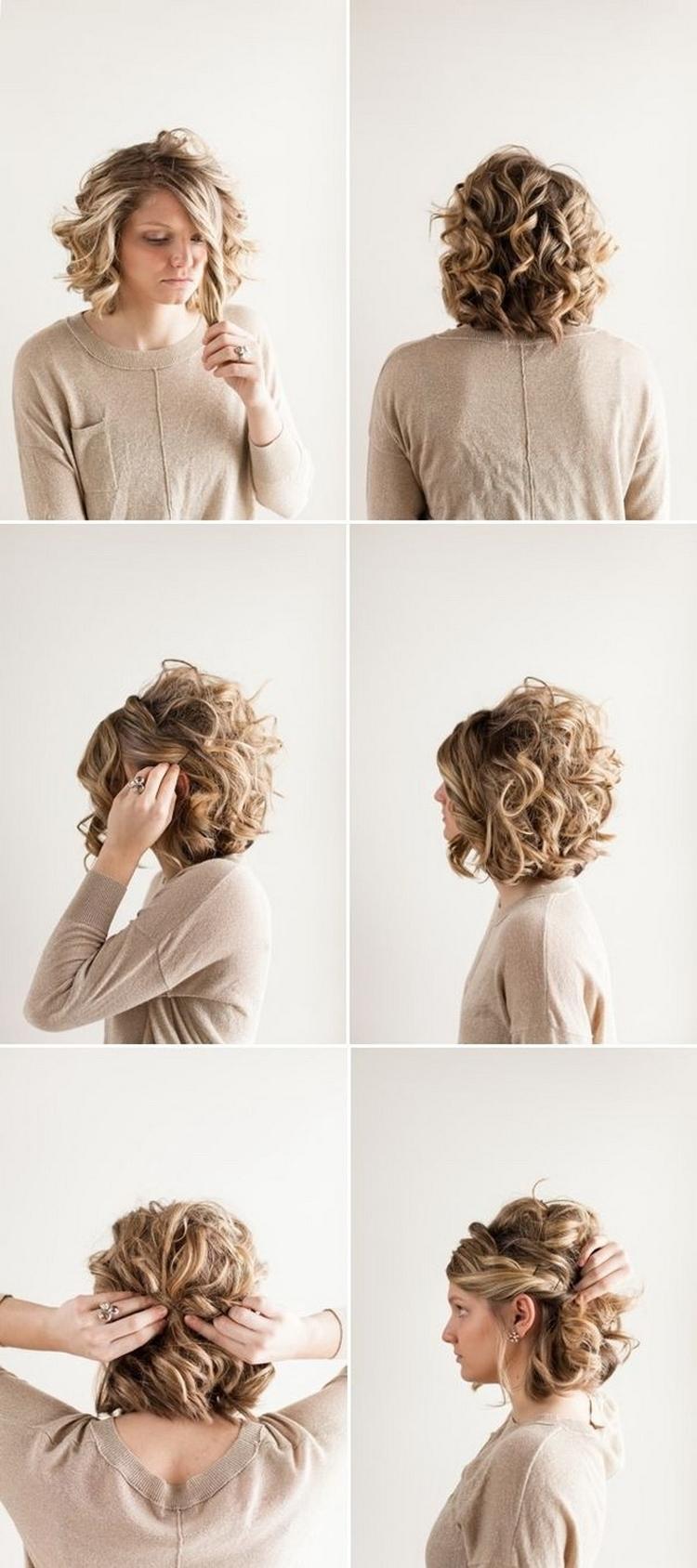 Укладка вечерняя на короткие волосы