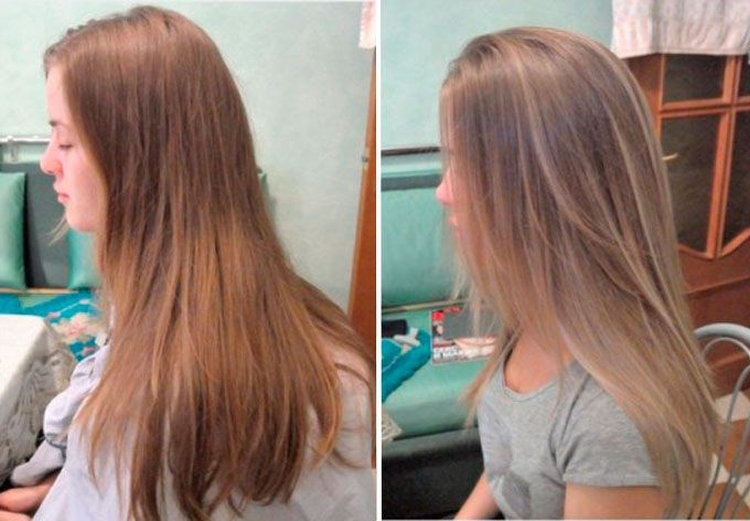 Брондирование на русые волосы фото